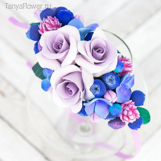 цветочный ободок ручной работы