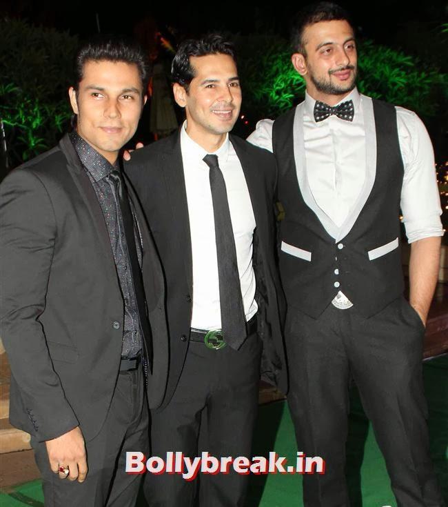 Randeep Hooda, Dino Morea and Arunoday Singh, Bollywood Babes at Vishesh Bhatt Wedding Reception