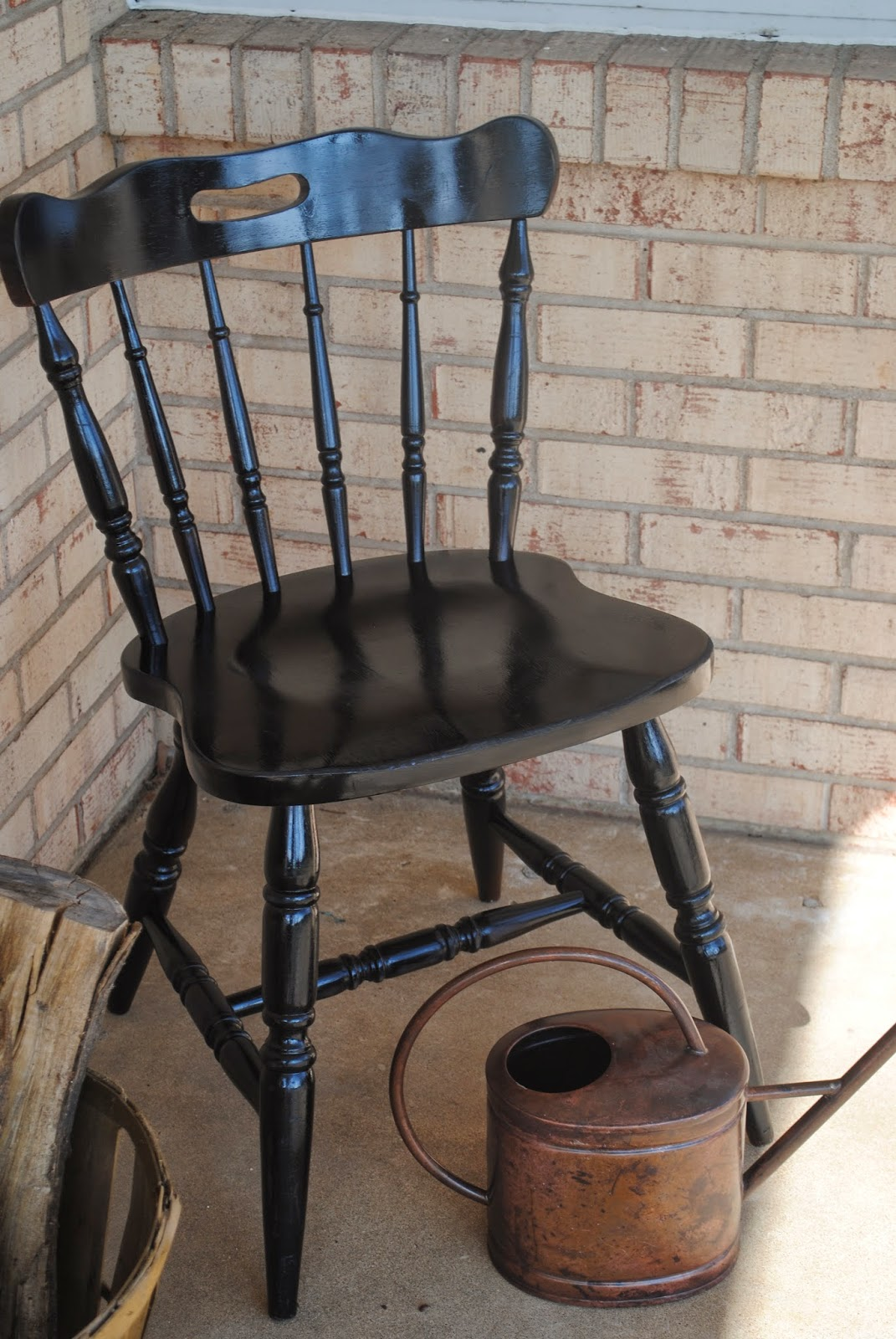 black wood chair macys chairs vinyl and spray paint makeover silhouette school