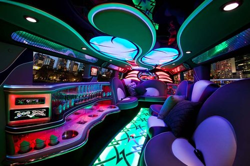 World Of Cars Hummer Limousine Interior Images 1