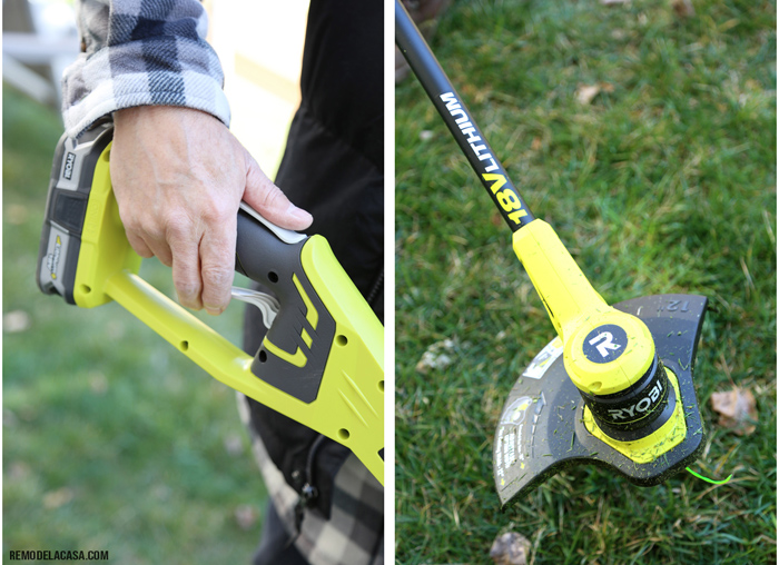 Give your lawn and beds a sharp edge with a string trimmer - A simple way to add curb appeal