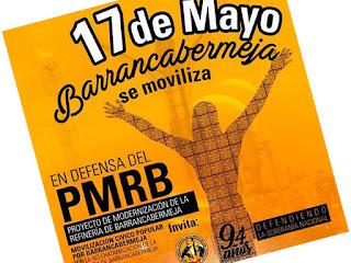 Barrancabermeja se moviliza por el PMRB el 17 de mayo