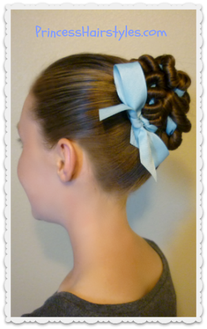 Ribbon Coiled Bun Hairstyle Tutorial Hairstyles For Girls