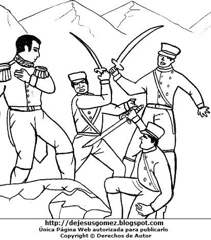 Imagen de la Batalla de Tarapacá para colorear pintar imprimir. Dibujo de la Batalla de Tarapacá hecho por Jesus Gómez