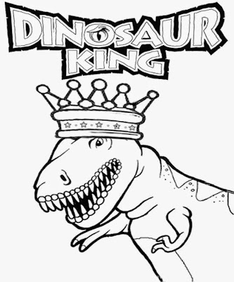 Free clipart royal crown Jurassic park ruler T-rex dinosaur king coloring pictures for youngsters
