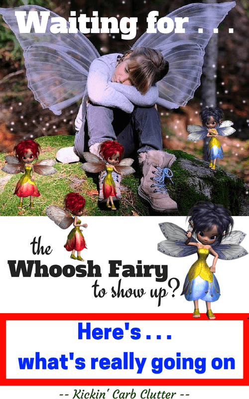 Pinterest Image: Whoosh Fairy Child Waiting, with Several Fairies at Her Feet