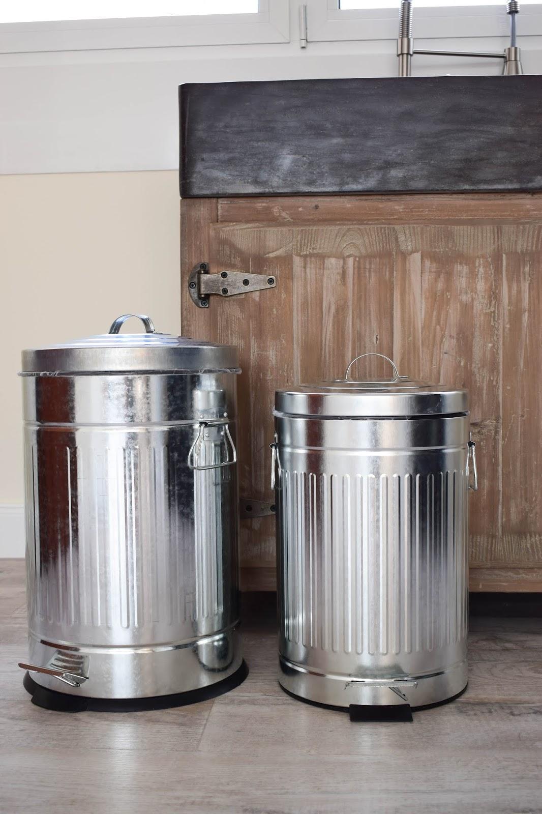 Wenko Tipp Abfalleimer Abfalltrennung Küche Retro Metall Interior Deko Dekoration