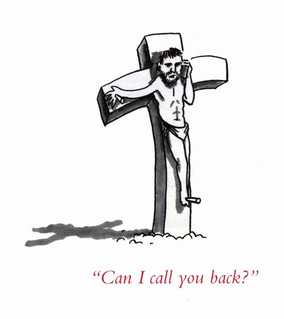 Can I Call You Back Jesus Cartoon Picture