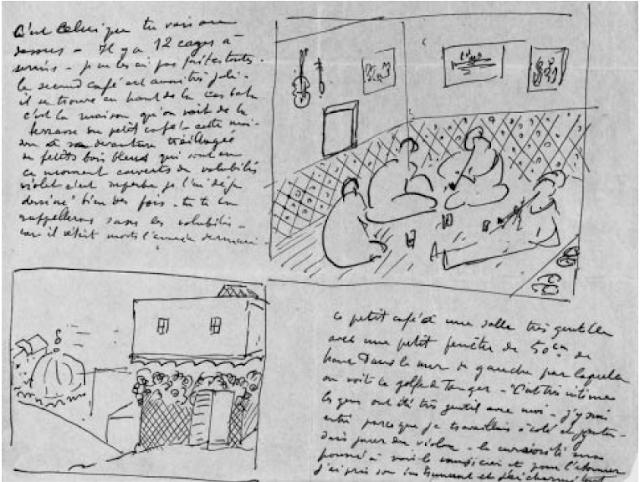 Henri Matisse pocztówka z kawiarni w Tangerze (1912) archiwum Matisse Paryż