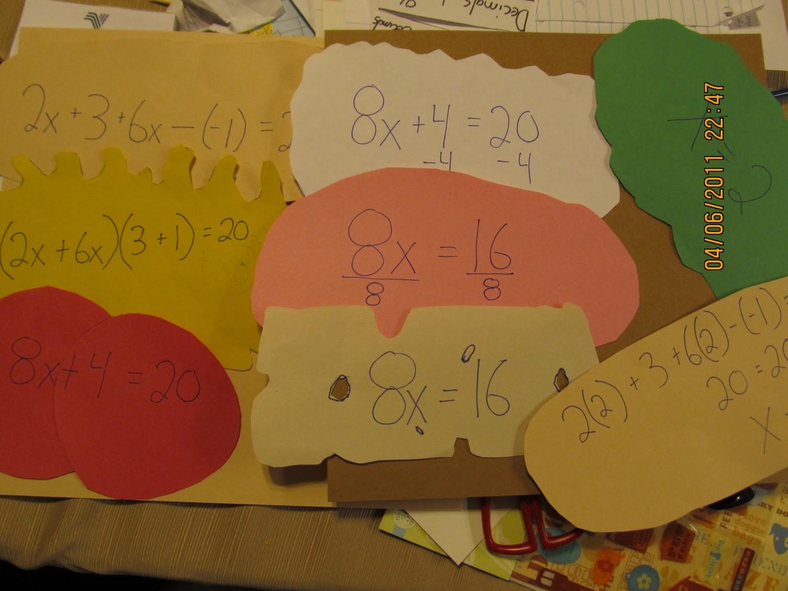 Hands On Math Equation Sandwich Anyone How To Eat Algebra