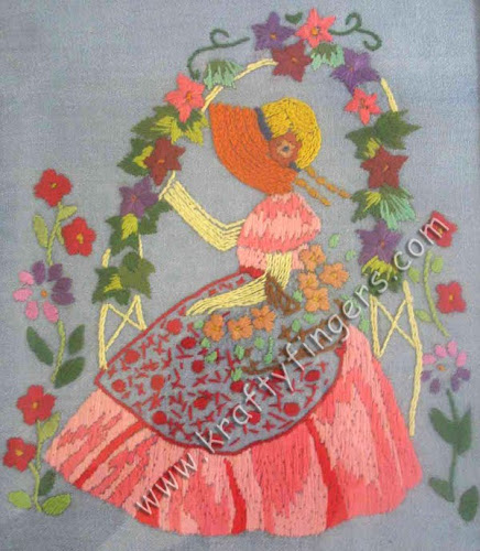 Lady-In-Garden-Embroidery