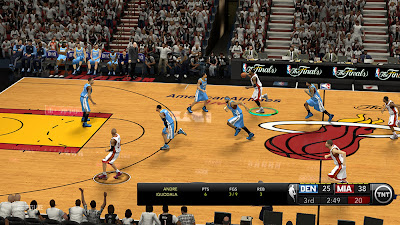 NBA 2K13 TNT 2013 Scoreboard Screenshot