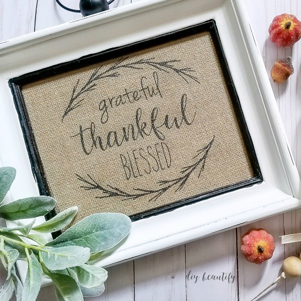 grateful thankful blessed DIY sign