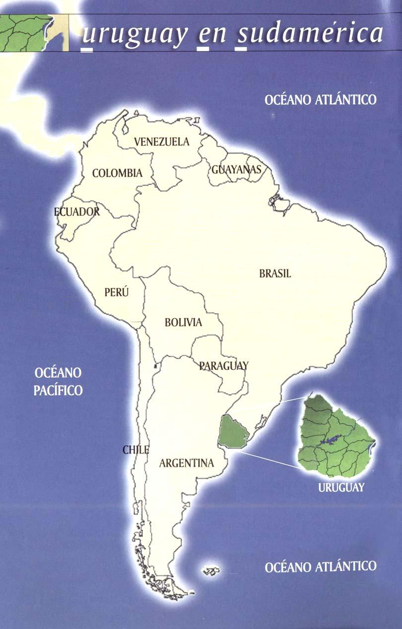 Mapas del Mundo: Mapa de uruguay en sur américa