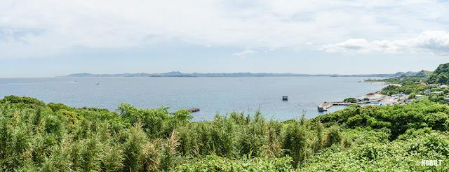 洲埼灯台(館山市)からの景色