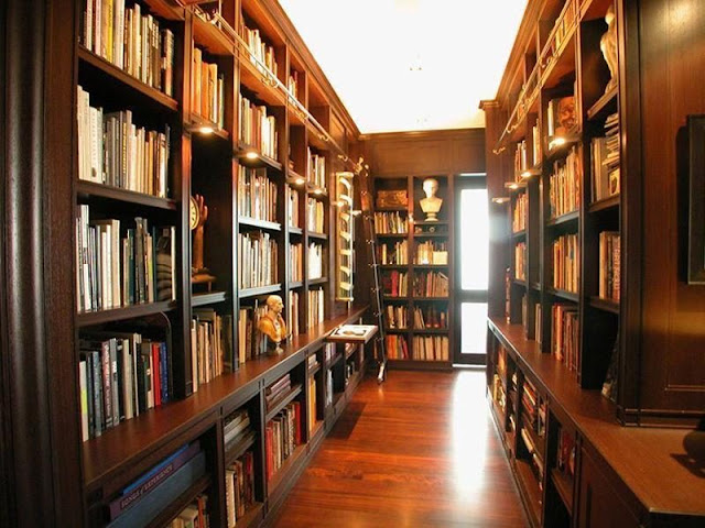 Photo of large home private library
