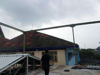 Pemasangan Rangka Atap Baja Ringan Masjid P3 Badran, Pingit, Jogja