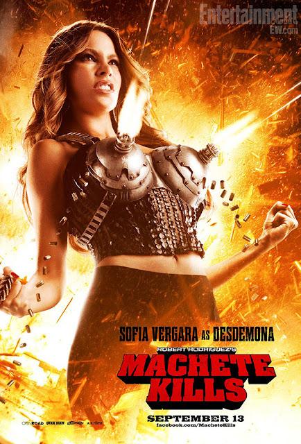 Poster de Sofia Vergara en la película Machete Kills