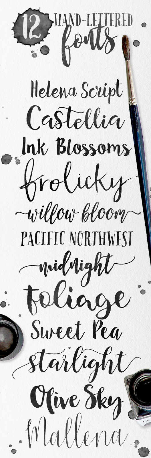 hand lettered modern brush fonts, some free