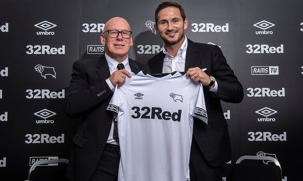 Frank Lampard appointed as Derby's manager