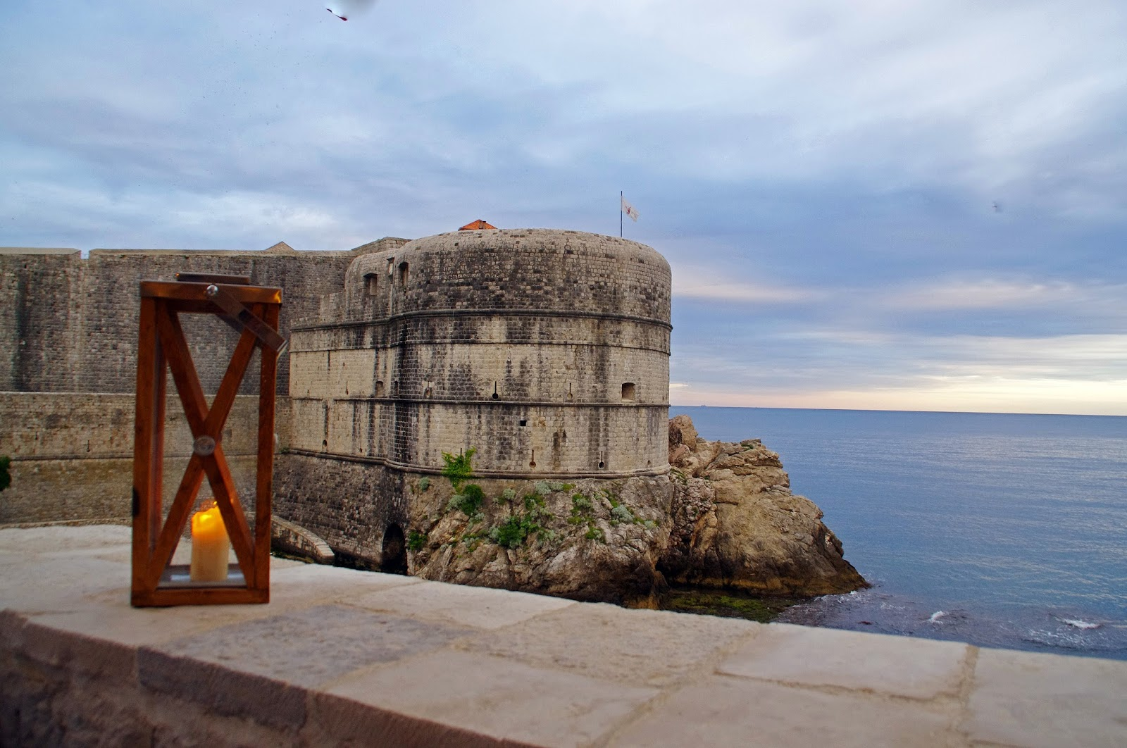 Dusk at Nautika Restaurant Dubrovnik