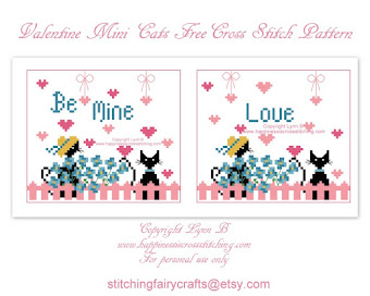 New Free Valentine Cross Stitch Pattern