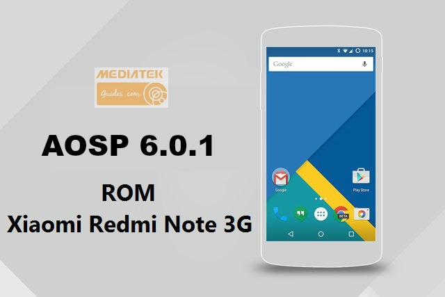 [6.0.1] AOSP For Xiaomi Redmi Note 3G