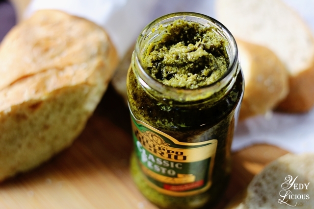 Classic Pesto Easy Bruschetta Recipe with Filippo Berio Olive Oil, Classic Pesto, and Sun Dried Tomato Pesto, Filippo Berio Olive Oil Blog Review, Easy Italian Recipe, YedyLicious Manila Food Blog Philippines Yedy Calaguas