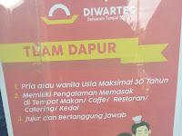 Lowongan Kerja Padang : Karyawan Dapur