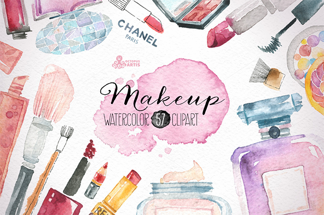 Makeup & Cosmetics clipart par OctopusArtis