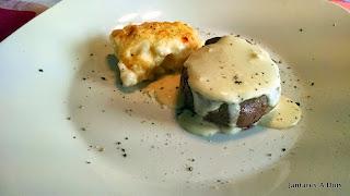 Mignon acompanhado com batata gratin dauphinois