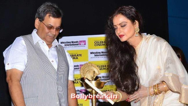 Subhash Ghai and Rekha, Vidya Balan, Rekha ji at Inauguration of Celebrate Cinema Festival Events