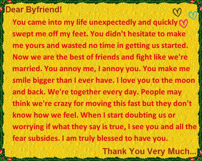 I love you and thank you letter to your boyfriend thank you letter for him expocarfo Choice Image