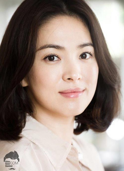 model gaya rambut wanita korea sebahu