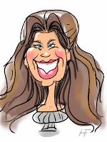 iPad karikatuur tekening van vrouw live