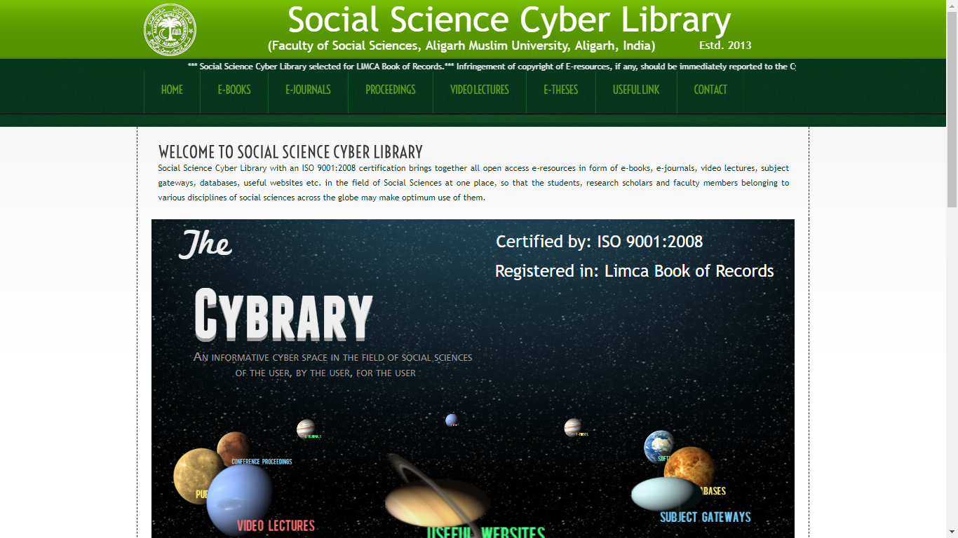Social Science Cyber Library, AMU