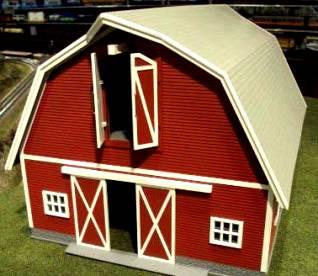 Cast A Farm Christmas Red Barn Mismatched Livestock