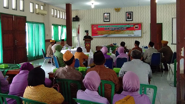 Kodim 0736/Batang Jalin Komunikasi Sosial Dengan Keluarga Besar TNI