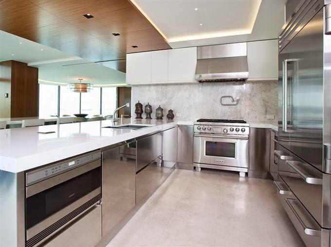 Detalles de una cocina de estilo industrial cocinas con - Campana extractora cocina industrial ...