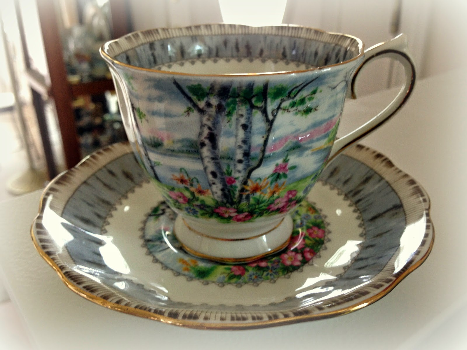 Ruffled Birches Teacup