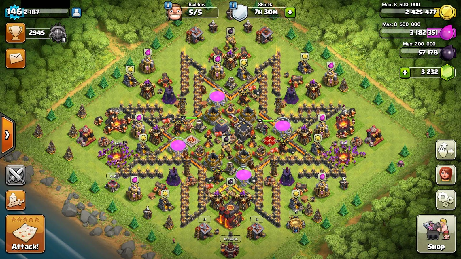 143 Clash Of Clans Coc Th 10 Max Name Change Archer Tower Lv 13