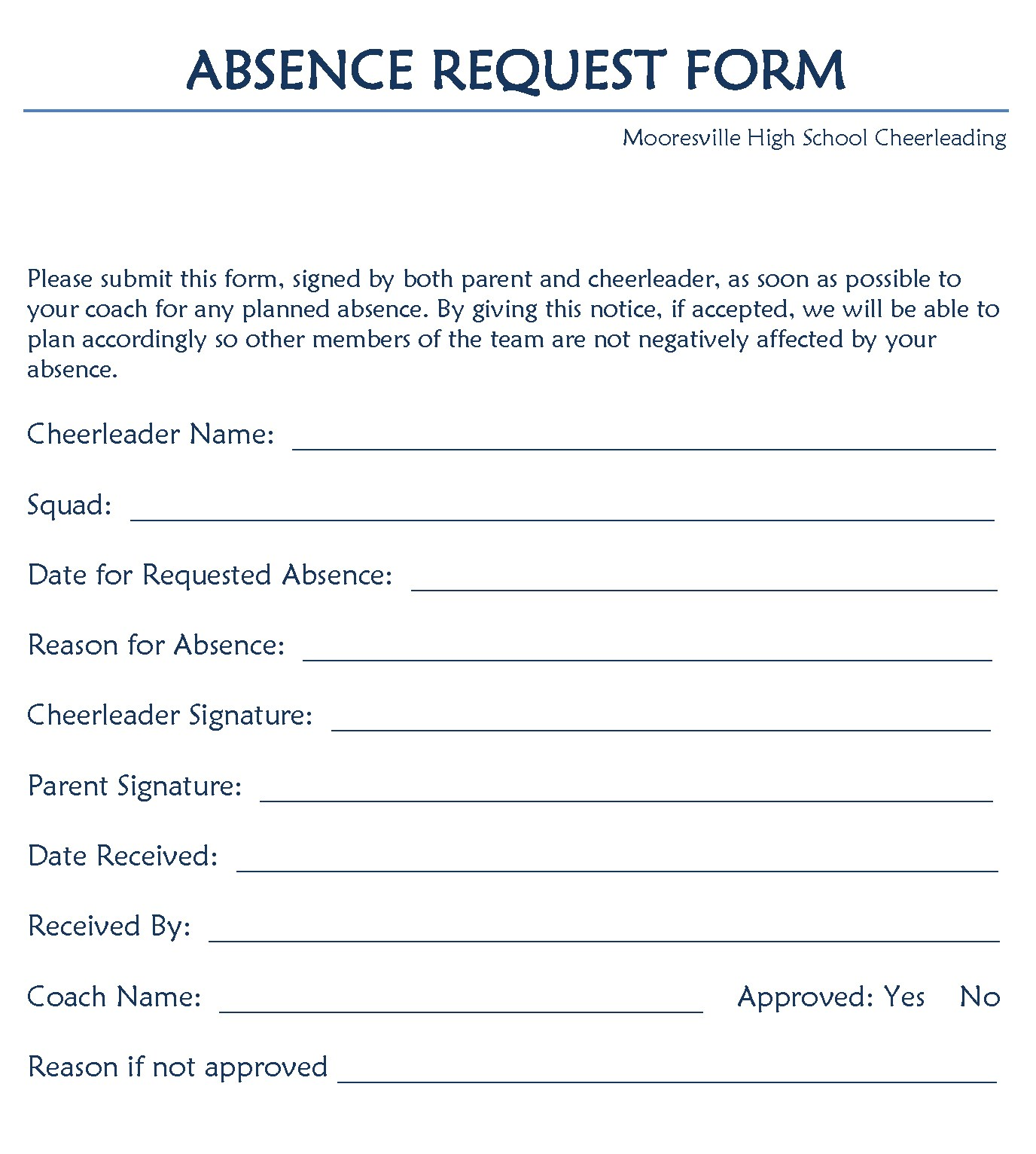 request for leave form template – Leave Templates