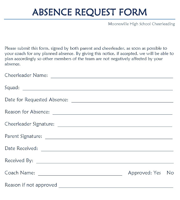 Leave Request Form  Leave Request Form Template