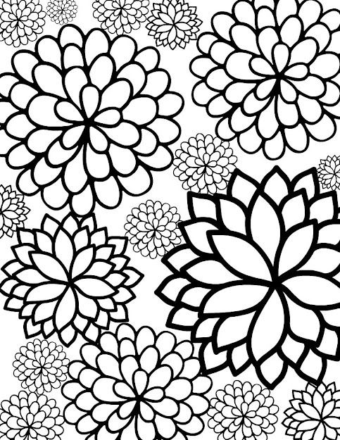 Just Love Pretty Floral Coloring Sheets  Heres Beautiful Garden  Inspired Coloring Page For