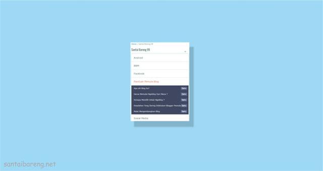 Cara Membuat Daftar Isi atau Sitemap Buka Tutup
