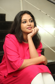 Actress Arundathi Nair Stills in Red Chididar at Bethaludu Success Meet  0103.JPG