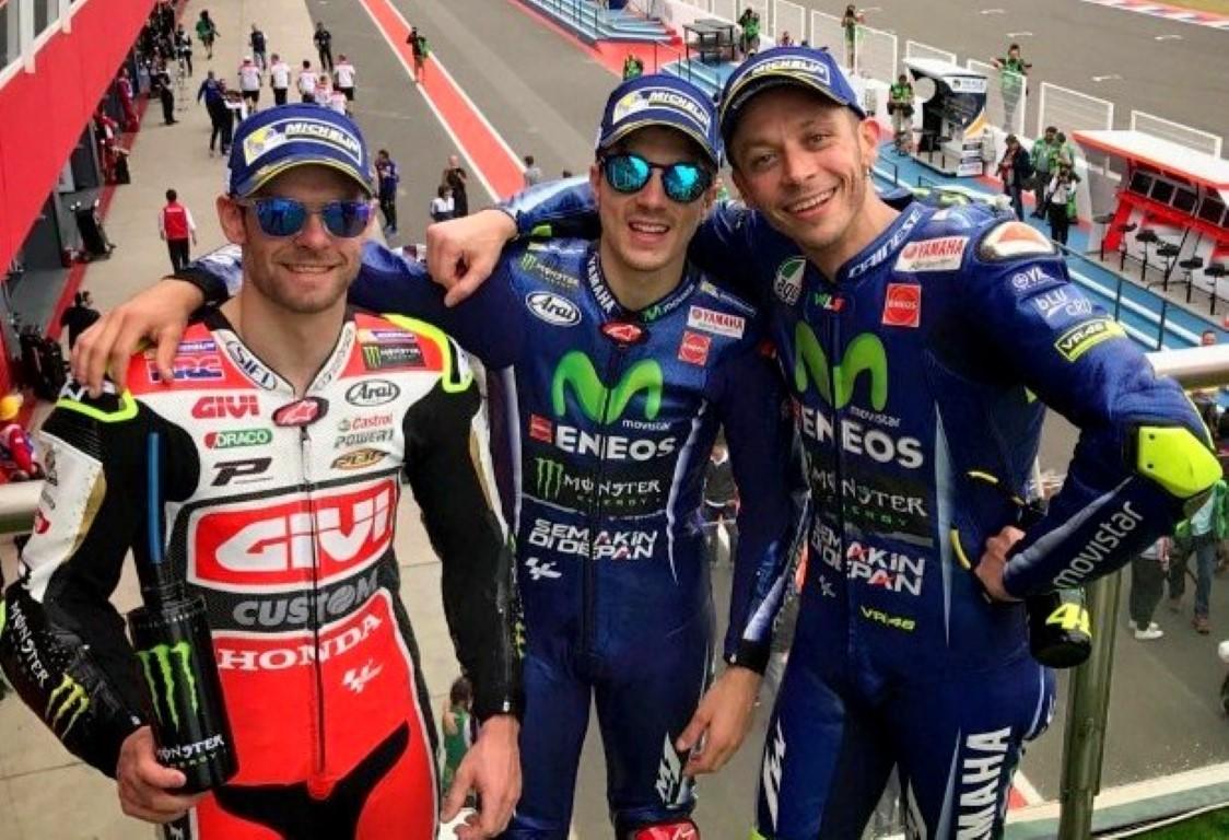 MotoGP Argentina 2017 : Vinales juara lagi, Rossi kedua Crutchlow ketiga . . Lorenzo sial !