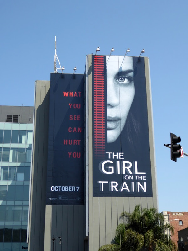 Emily Blunt The Girl on the Train billboard