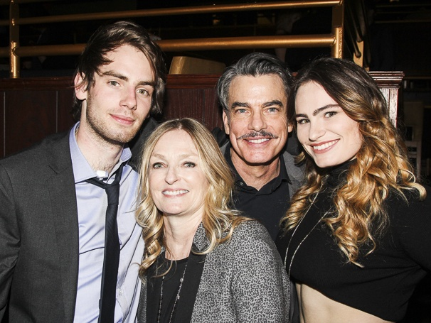 Peter Gallagher and his family James, Paula and Kathryn 2016