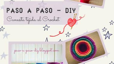 Canasta Tejida al Crochet - diy